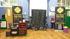 Road safety show Clifton Primary School, Road safety show, road safety magic show, magic show, school show, theatre in education, david tricks road safety school show, children's entertainer, safety show, stop look listen think, road safety week, educational show, magician,