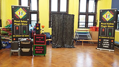 road safety show ewell grove school, Road safety show, road safety magic show, magic show, school show, theatre in education, david tricks road safety school show, children's entertainer, safety show, stop look listen think, road safety week, educational show, magician,