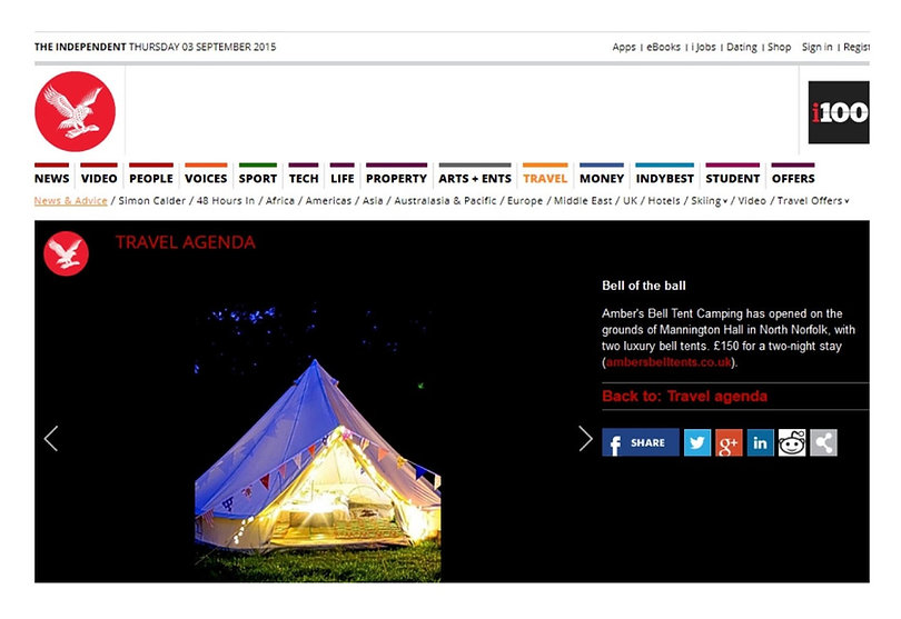 Press-and-media | UK | Amber's Bell Tent Camping