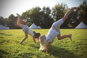 Fun on the field at Mannington - Amber's Bell Tents - Norfolk Glamping
