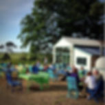 Lunch with the best views in North Norfolk at the Wiveton Cafe - 2 min walk from your tent doorway with Amber' Bell Tents
