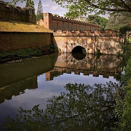 The moat around Mannington Hall - Amber's Bell Tents - Norfolk Glamping