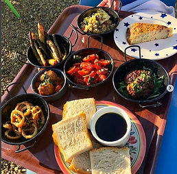 Award winning food made freshly with farm and local produce at Wiveton Hall Cafe - Dine in style during your stay with us - with Amber's Bell Tents at Wiveton Hall - North Norfolk and Uk Glamping