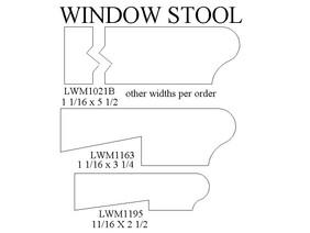 window stools