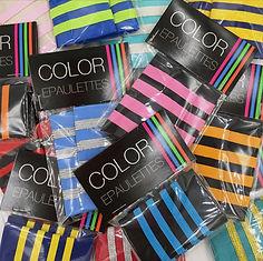 Custom color epaulettes