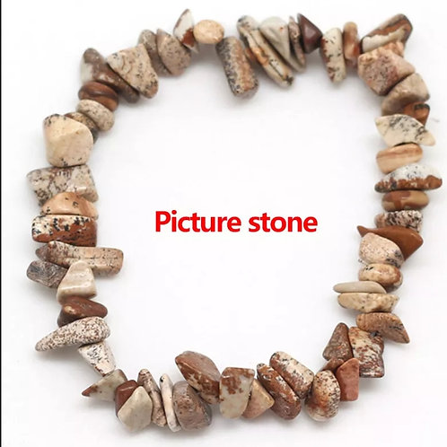Picture crystal chip bracelet