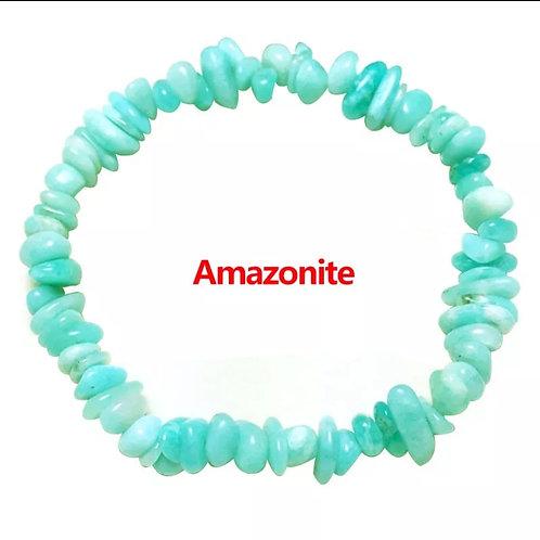 Amazonite crystal chip bracelet