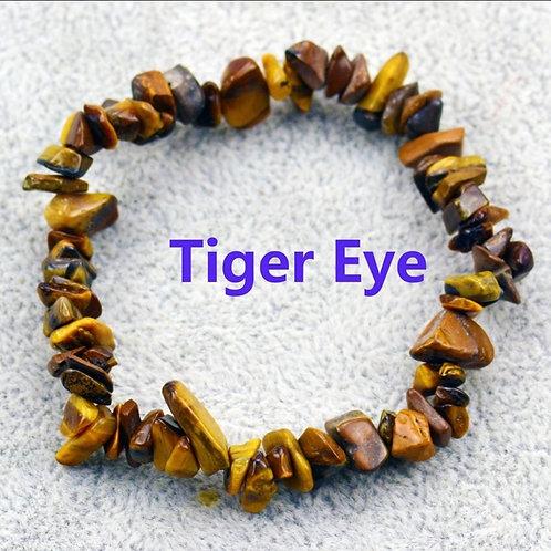 Tigers eye crystal chip bracelet