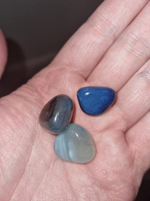 3 Agate Rainbow  tumbled stones