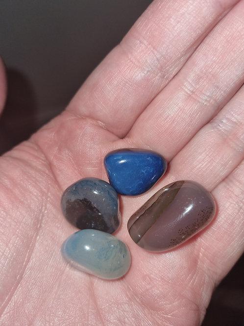 4 Agate Rainbow  tumbled stones