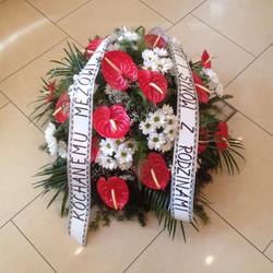 Wieniec pogrzebowy bez stojaka