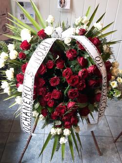 Wieniec pogrzebowy na stojaku nr 44
