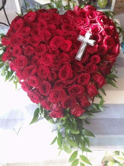 Wieniec pogrzebowy - serce