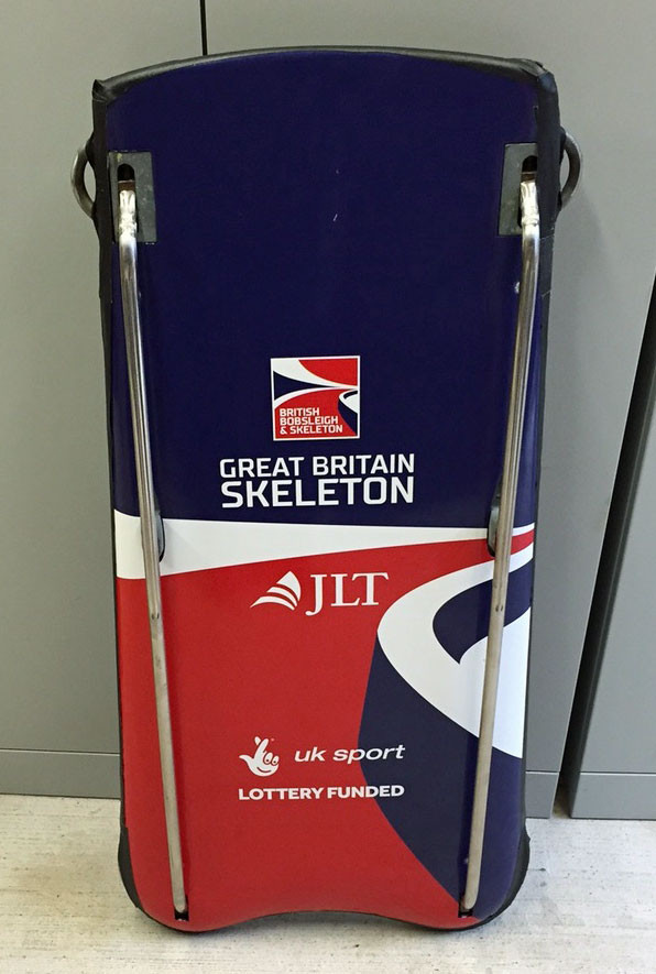 The current BBSA Skeleton used by the GB female ahletes
