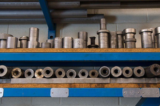 Steel and bronze mandrels for bending inconel and titanium at GoodFabs