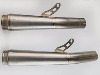 NEW GF Moto Titanium End Cans