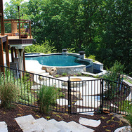 Steel Pool Fence with Gate