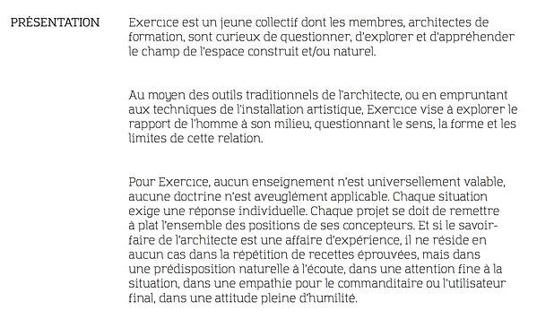 Collectif Exercıce — présentation