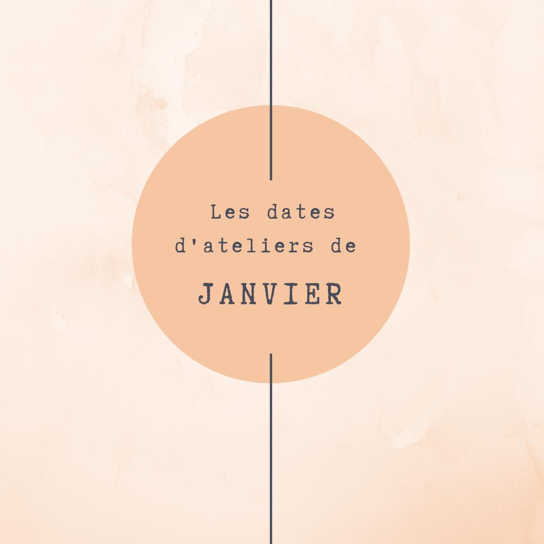 Les dates de Janvier