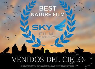 """Premio al mejor documental de naturaleza para """"Venidos del Cielo"""" en Sky Film Festival"""