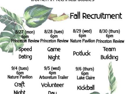 Fall 2018 Rush Week Starts Today!