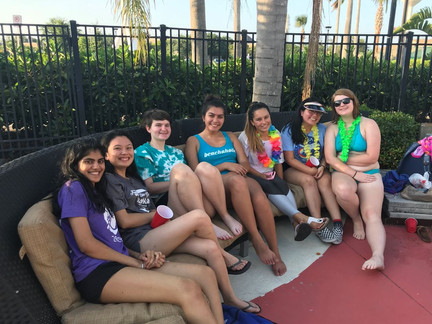 Fun Before Finals! - ASK Luau Pool Party