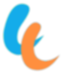The blue-orange travel hands logo