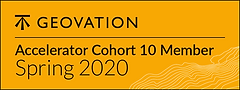 Yellow logo of the Geovation company