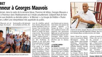 LECTURE À L'HÔPITAL / LE MERISIER DE G. MAUVOIS / FRANCE ANTILLES