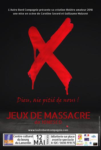 JEUX DE MASSACRE / COMPLET AU THÉÂTRE AIMÉ CÉSAIRE