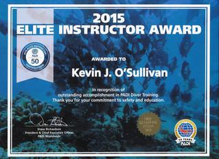 PADI Elite Instructor Awards at Hamden Scuba