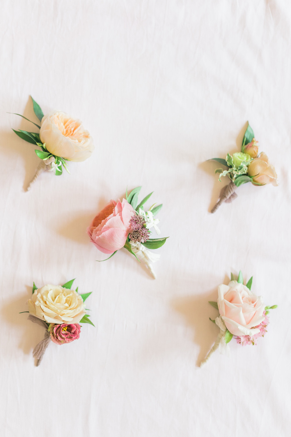 Rose selection of buttonholes