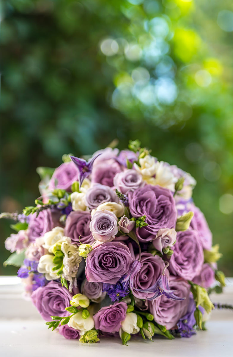 Lusicious Lilac Bridal bouquet.  Photograph by Damian Wedding Photographer