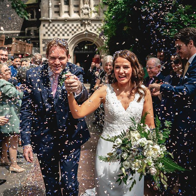 Confetti Just Married moment St Bart's