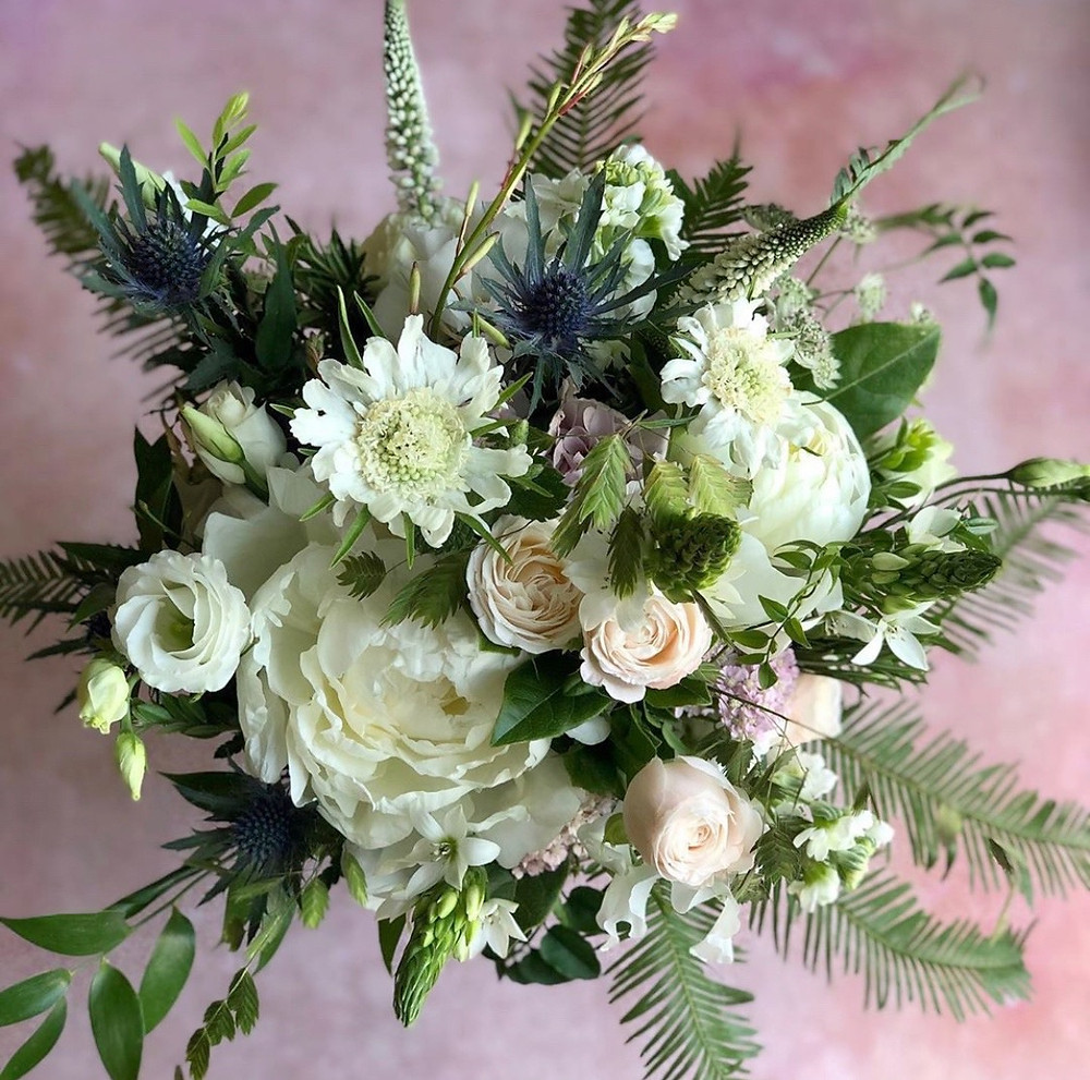 Brides bouquet whimsical and romantic