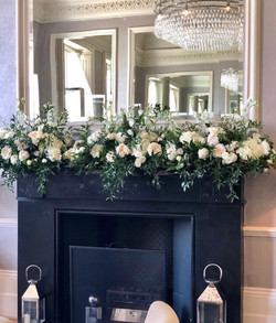 Mantlepiece flowers at The Bingham