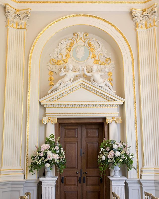 Orleans House Gallery Entrance and Exit Wedding Flower Goals