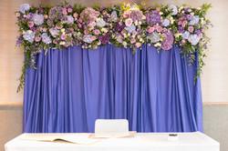 Floral ceremony backdrop
