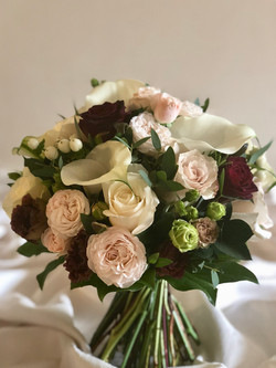 Burgandy and Blush bridal bouquet- Peter