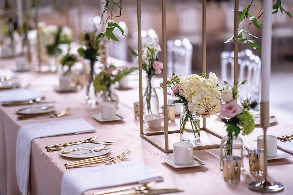 Whimsical wedding bud vases