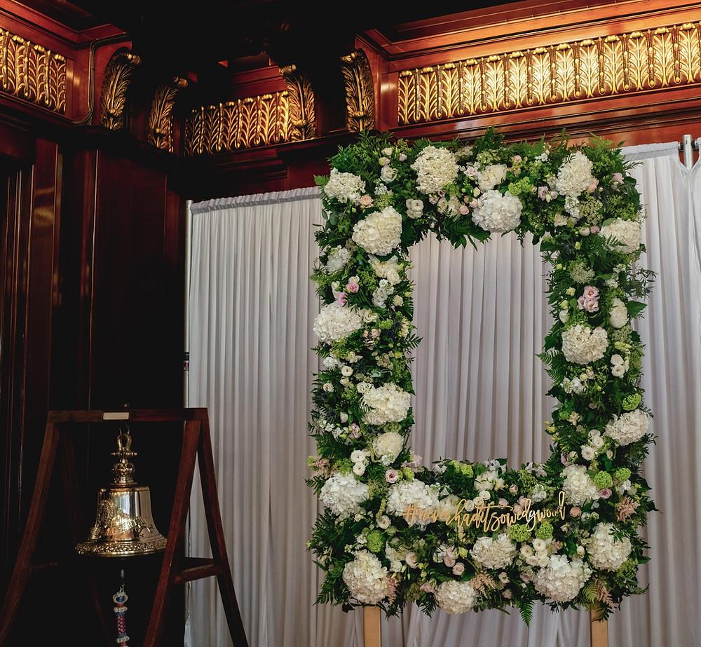 Wedding photo flower frame