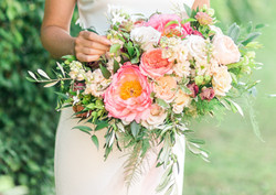 Summer romance Peonies and Garden roses