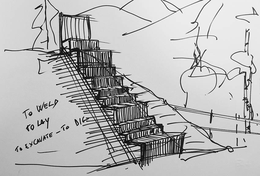 progetto scale Saint Anton