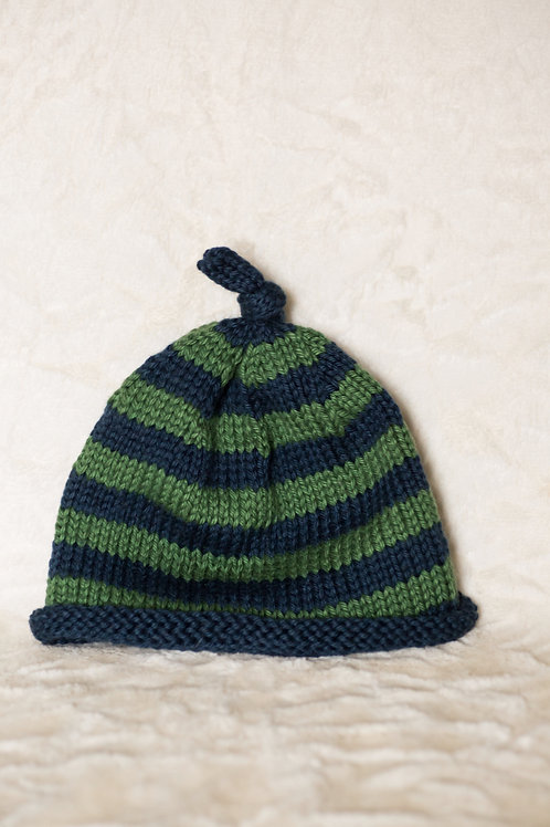 Striped Toggle Hat