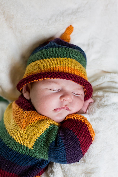 Rainbow Toggle Hat
