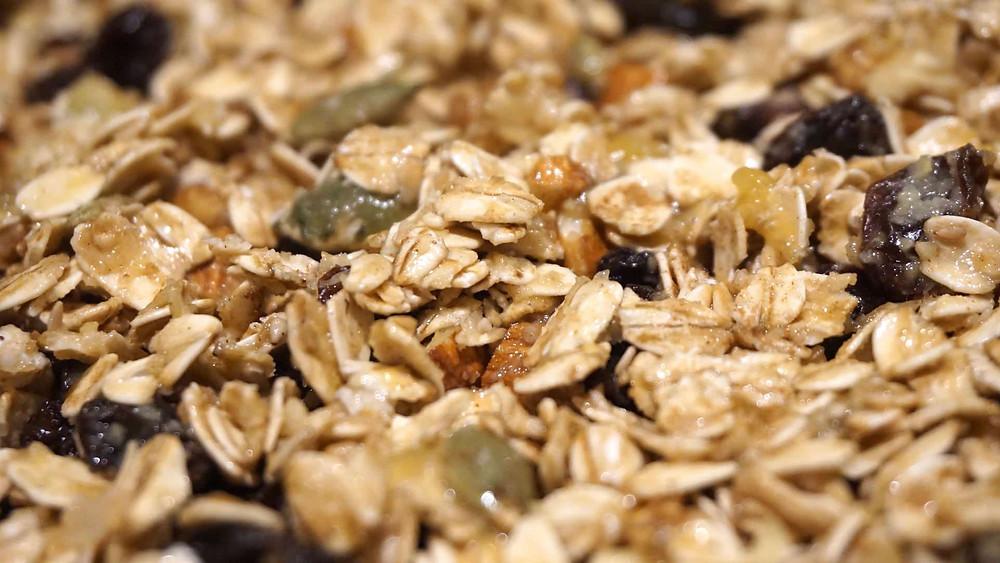 Bạn cũng có thể dùng chuối xay thay cho mật ong