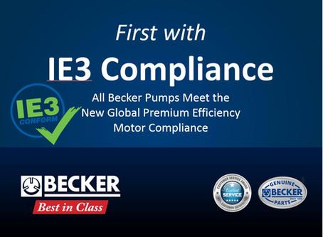 Becker Pumps Corporation First Vacuum Pump Manufacturer to be IE3 Compliant | Becker Pumps