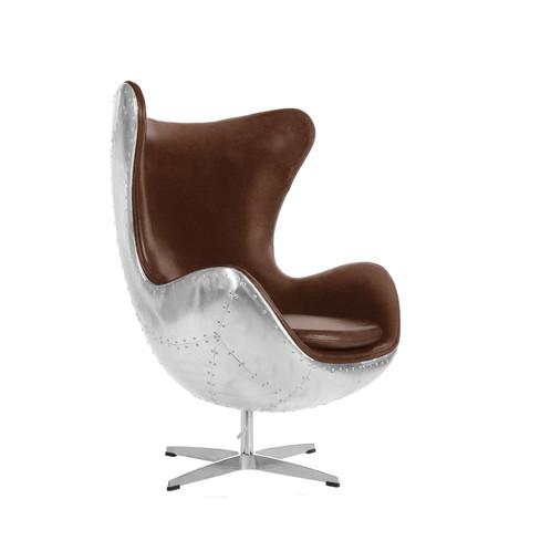 Spitfire Egg Chair A Jacobsen Stil Braun
