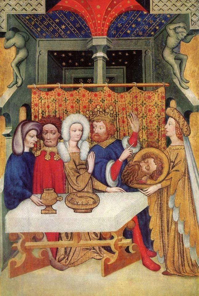 Maestro di Ulma, Banchetto di Erode, Stoccarda - Staatsgalerie