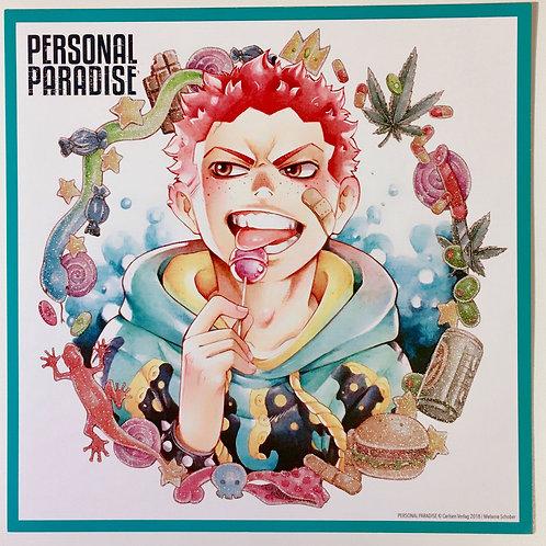 "Autogrammkarte ""Personal Paradise"""